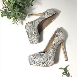 New Steve Madden Nala snake skin platform heels